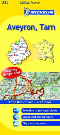 Michelin Map France: Aveyron, Tarn 338