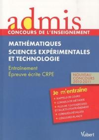 Admis - concours de l'enseignement, professeur des écoles, mathématiques, sciences epxérimentales et technologie