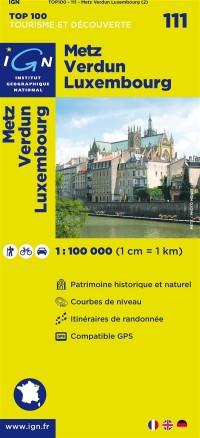 Top100111 Metz/Verdun/Luxembourg  1/100.000