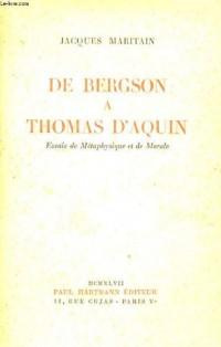 De Bergson A Thomas D'aquin