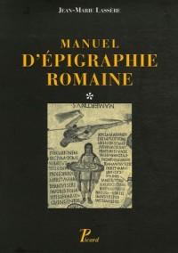 Manuel d'épigraphie romaine : 2 volumes