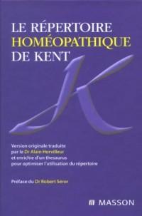 Le Repertoire Homeopathique de Kent (Ancien prix éditeur : 74 euros)
