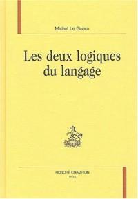 Les deux logiques du langage