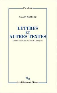 Lettres et autres textes