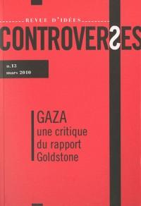 Revue d'idées Controverses n°13 - Gaza, une critique du rapport Goldstone