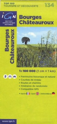Bourges Châteauroux : 1/100 000