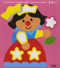 Autocollants tout beaux, tout mignons ! : princesse 2-4 ans