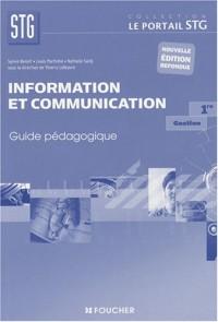 Information et communication, Gestion, 1ère STG : Guide pédagogique
