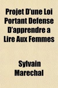 Projet D'Une Loi Portant Dfense D'Apprendre Lire Aux Femmes