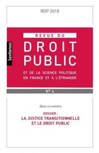 Revue du Droit Public et Science Politique en France et a l Étranger N4-2018