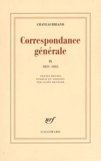 Correspondance générale (Tome 9-1831-1835)