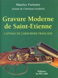 Gravure moderne de saint-etienne, capitale de l'armurerie française