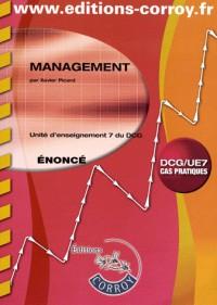 Management Enonce - Ue 7 du Dcg