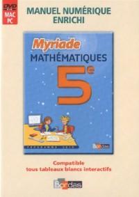 MVPI ADOPTANT MATHS 5E MYRIADE 2010 Livre scolaire