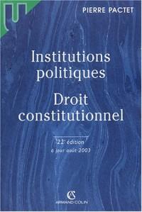 Institutions politiques : Droit constitutionnel