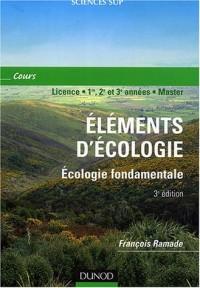 Élément d'écologie : Écologie fondamentale (cours, Licence - 1re, 2e et 3e années - Master)