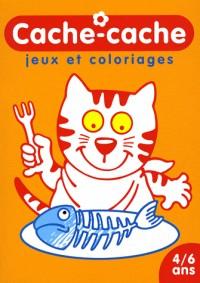 Cache-cache Chat : Jeux et coloriages 4/6 ans