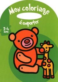 Mon coloriage à emporter (Ours et girafe) : 2-4 ans