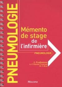 Pneumologie : Mémento de stage de l'infirmière