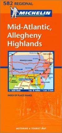 Carte routière : Mid-Atlantic, Halleghany Highlands, N° 11582 (en anglais)