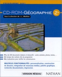 GEOGRAPHIE 2ND CD-ROM VERSION RESEAU Livre scolaire