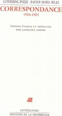 Correspondance : 1924-1925