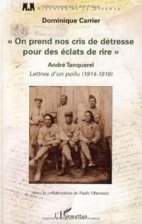 On prend nos cris de détresse pour des éclats de rire : Lettres d'un poilu, 1914-1916