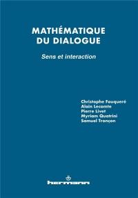 Mathématique du dialogue : sens et interaction