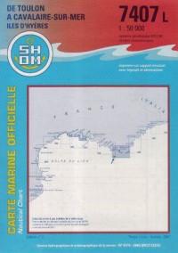 Carte marine : De Toulon à Cavalaire - Iles d'Hyères