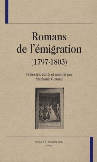 Romans de l'émigration (1797-1803)
