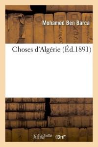 Choses d Algérie  ed 1891