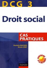 Droit social DCG3 : Cas pratiques
