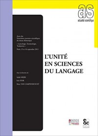 L'unité en sciences du langage