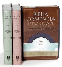 Santa Biblia/ Holy Bible: Reina-Valera 1960, Zafiro Azul/ Sapphire Blue, Simulacion Piel/ Simulated Leather, Compact Quick Reference