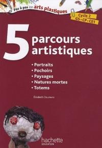 5 Parcours artistiques : Portraits ; Pochoirs ; Paysages ; Natures mortes ; Totems