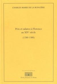 Prix et salaires à Florence au XIVe siècle (1280-1380)