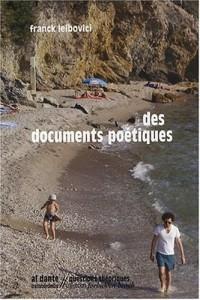 Des documents poétiques