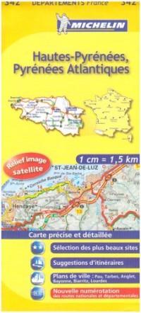 Hautes-Pyrénées, Pyrénées Atlantiques : 1/150 000