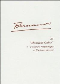 Études bernanosiennes n°23 - Monsieur Ouine 3 - l'écriture romanesque et l'univers du Mal