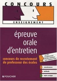 Epreuve orale d'entretien