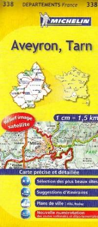 Aveyron, Tarn : 1/150 000
