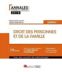 Droit des personnes et de la famille : Licence 1