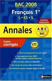 Français 1e L/ES/S : Sujets corrigés