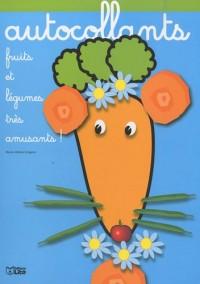 Fruits et Légumes très amusants : Madame Carotte - Album d'autocollants - Dès 3 ans