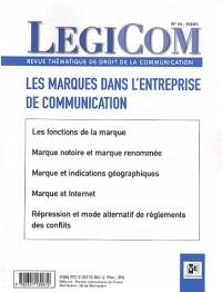 Légicom N°44. Actualité du droit des marques