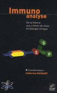 Immunoanalyse : De la théorie aux critères de choix en biologie clinique