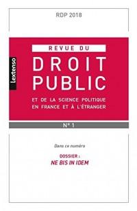 Revue du Droit Public N 1 2018