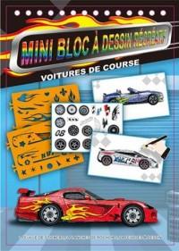 Voitures de course : Mini bloc à dessin récréatif