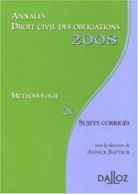 Droit civil des obligations : Méthodologie et Sujets corrigés