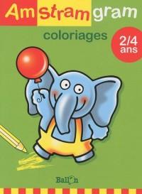 Coloriage Éléphant 2-4 ans